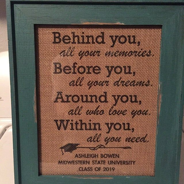 Graduation gift, graduation print, burlap print, gifts for college graduate, gift for high school graduate, rustic print, personalized gift