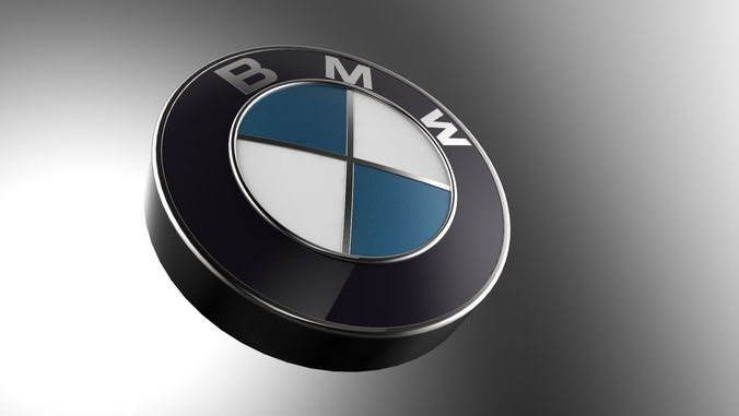 Bmw Logo 3d Modelnot Decal Free 3d Model Ready For Cg Projects
