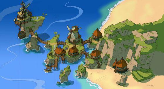 Environment Jak And Daxter Concept Art