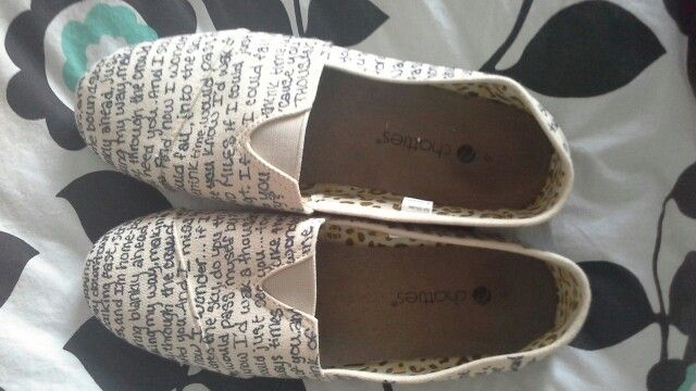 I got $10 canvas shoes at Hobby Lobby
