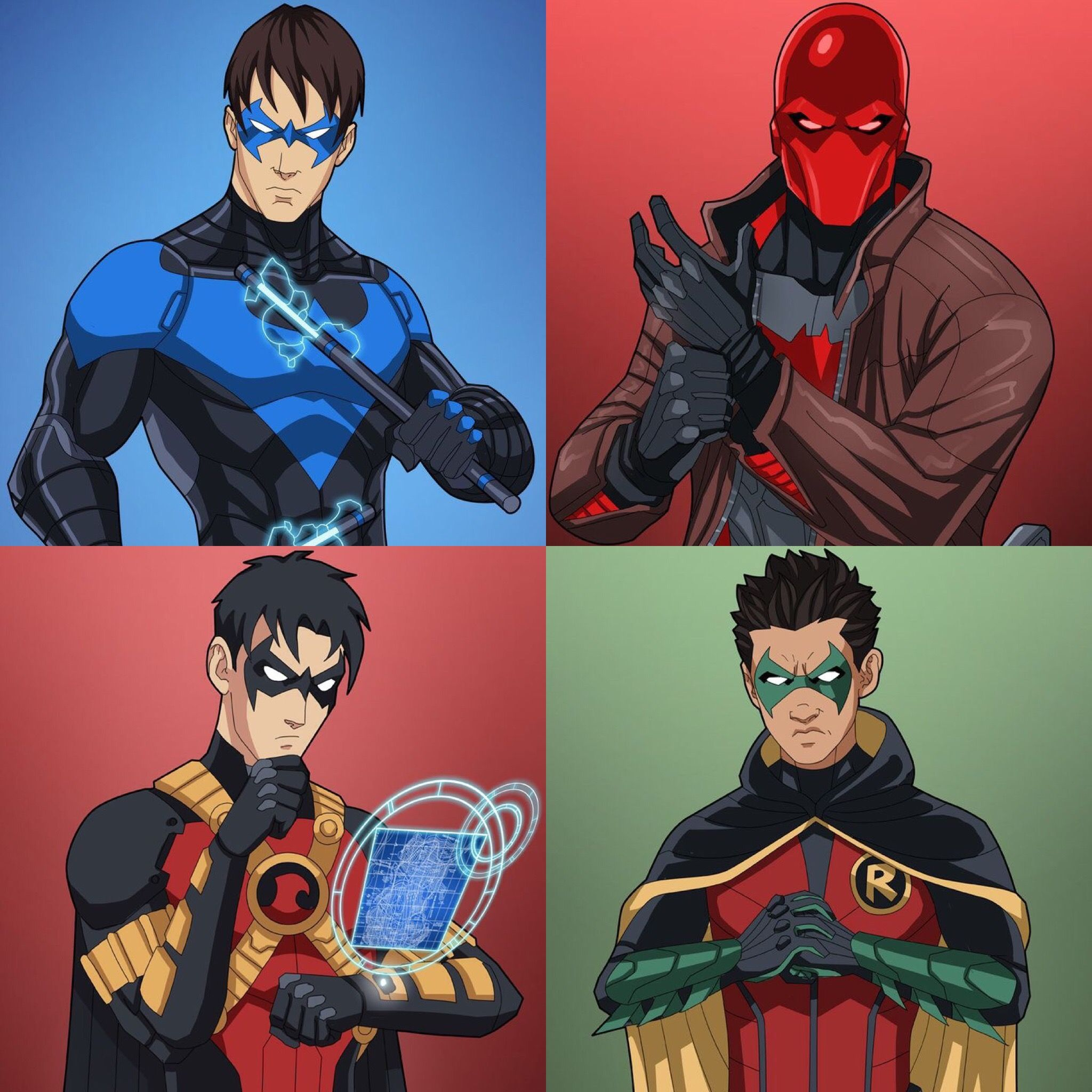 Nightwing Red Hood Red Robin And Robin | www.pixshark.com ... Nightwing And Red Robin