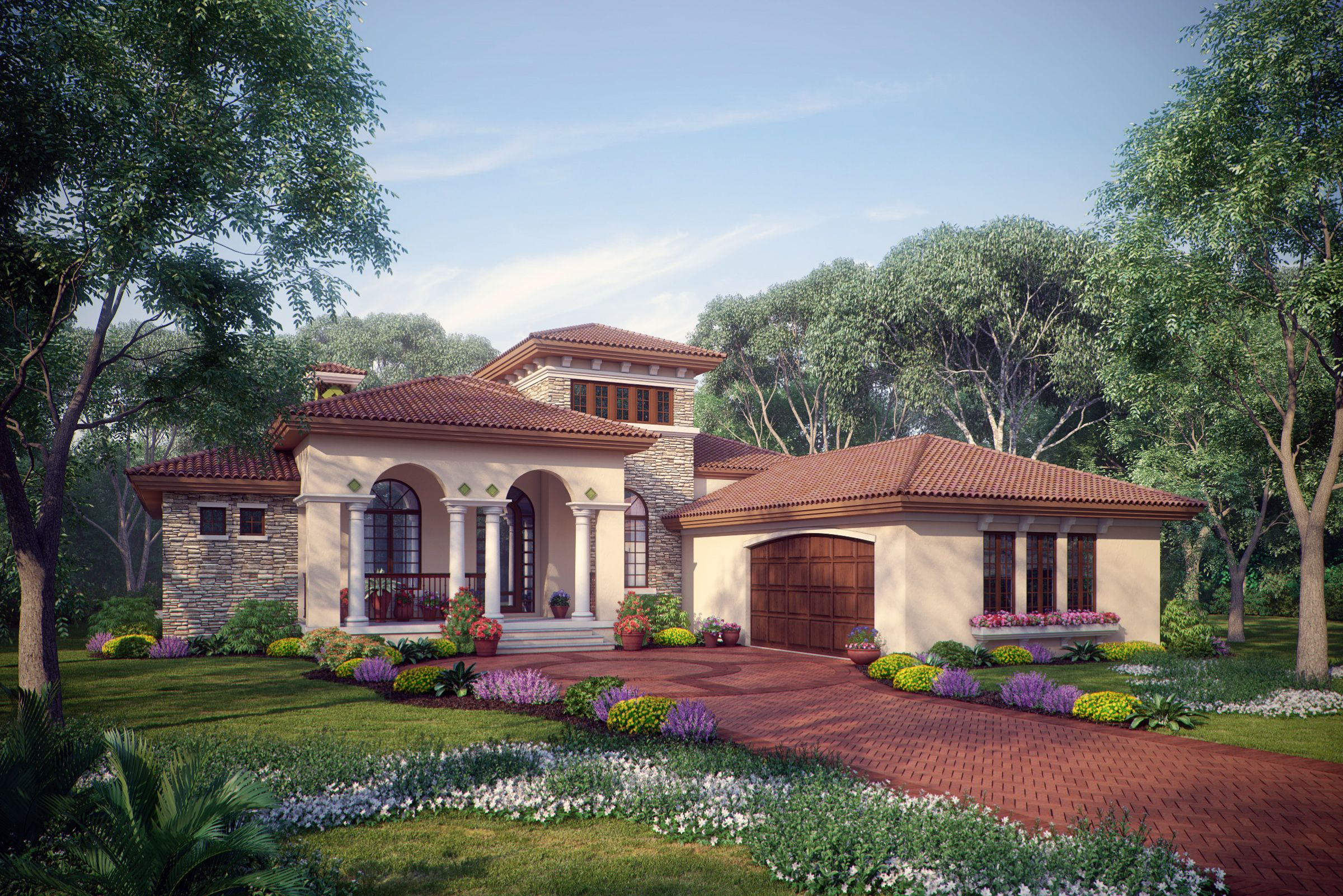 Sater Design S 8071 Casina Rossa House Plan From Our European Home Plan Portfol Mediterranean Style House Plans Mediterranean House Plans Mediterranean Homes