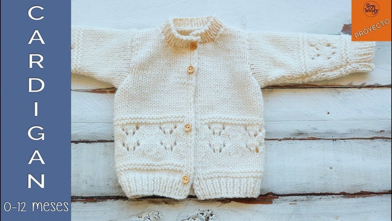 Abrigo para niños tejido en dos agujas (0-12 meses) Vídeo 1 Soy ...
