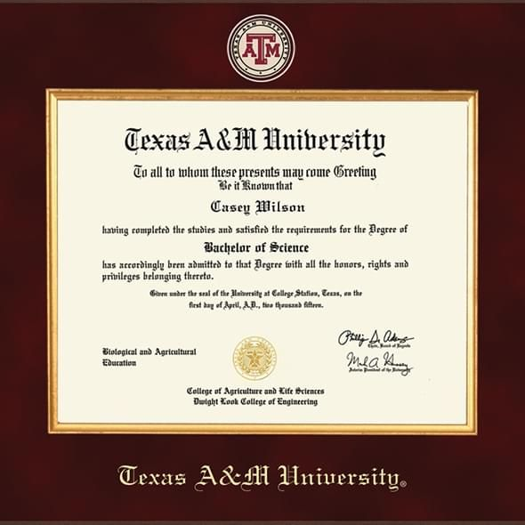 Texas A&M Excelsior Diploma Frame | Aggies | Pinterest | University ...