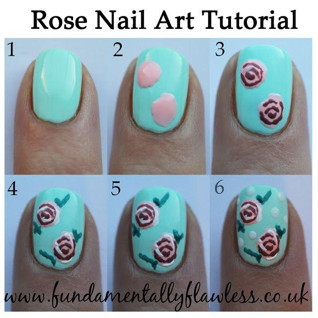 Fundamentally Flawless Rose Nail Art Tutorial Nail Tutorials