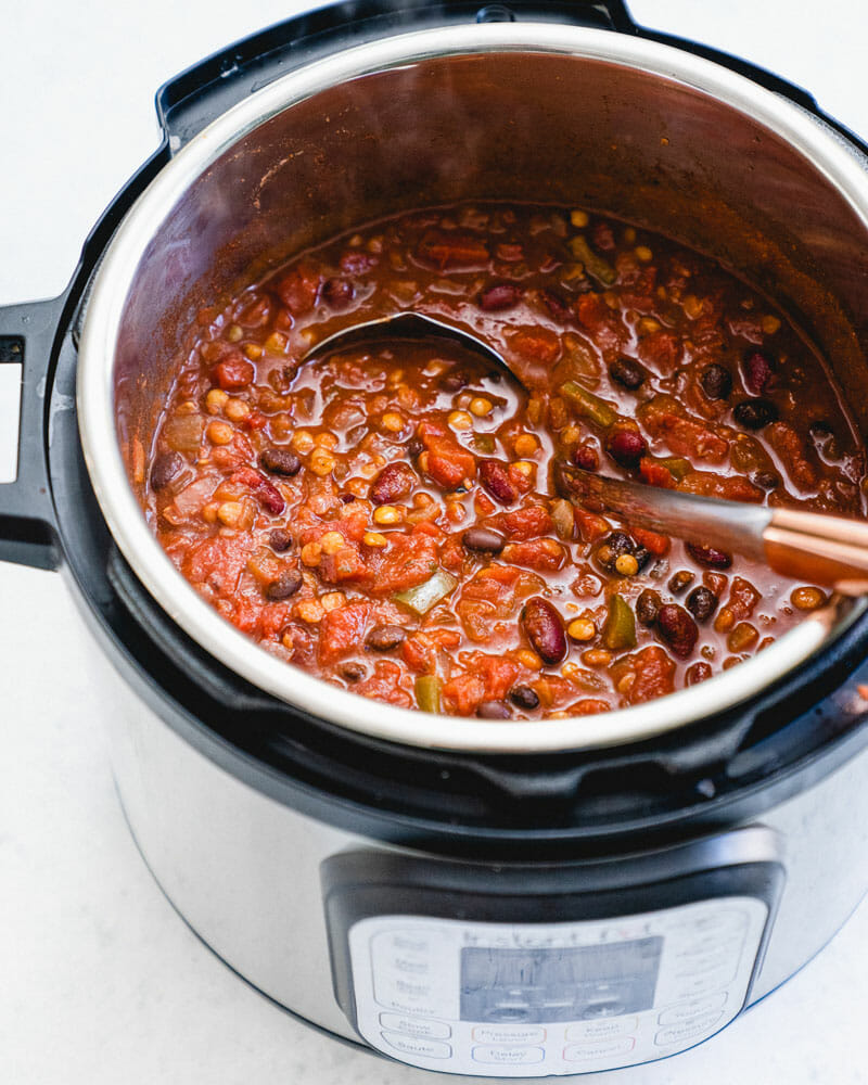 Best Ever Instant Pot Vegetarian Chili A Couple Cooks Recipe Vegan Instant Pot Recipes Vegetarian Chili Vegetarian Chili Easy