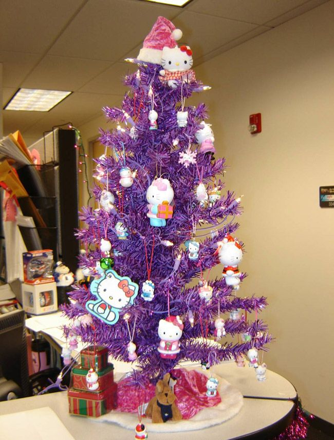 hello kitty christmas tree combines two of my favorites purple and