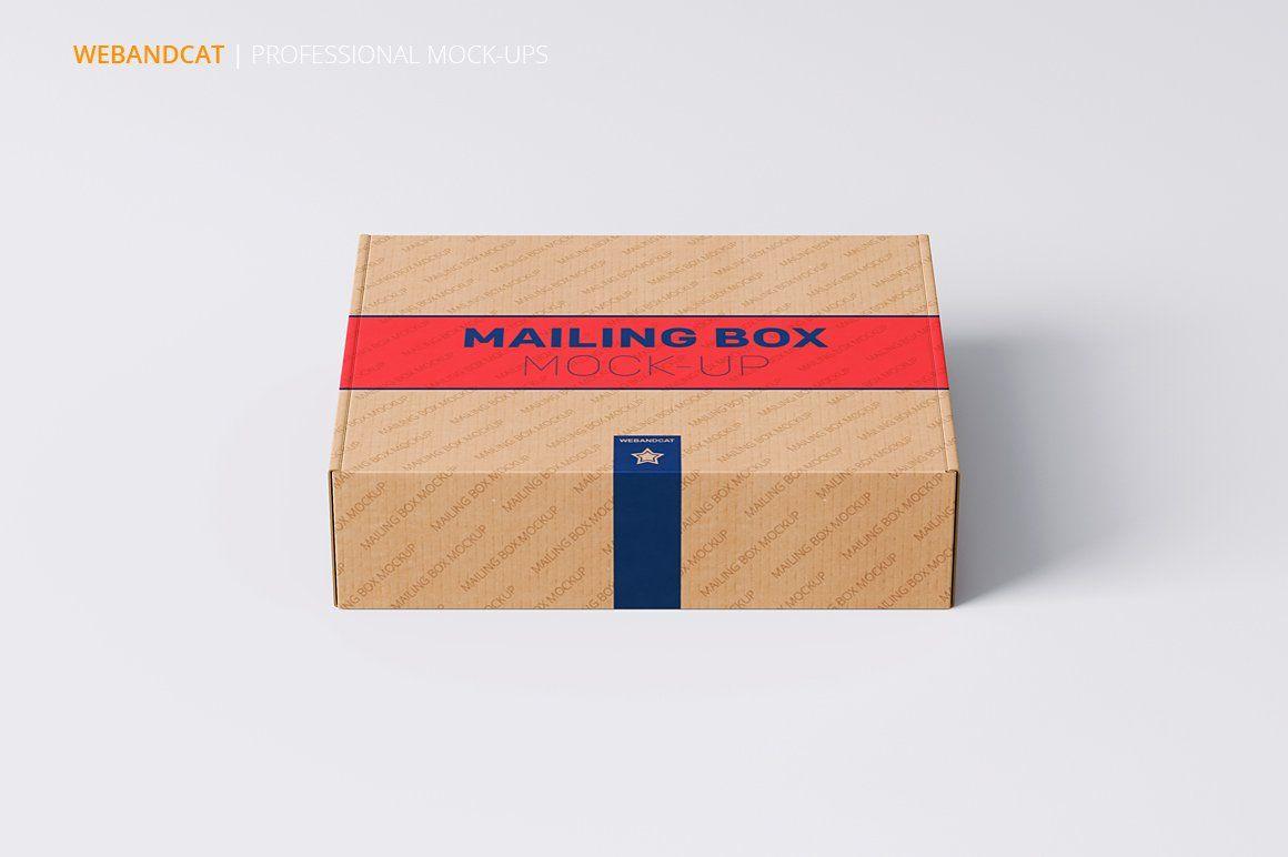 Download Shipping Mailing Box Mock Up Mocking Packaging Design Mockup