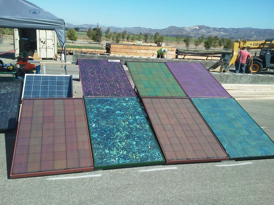 Colored Solar Some of our many colors to display on your