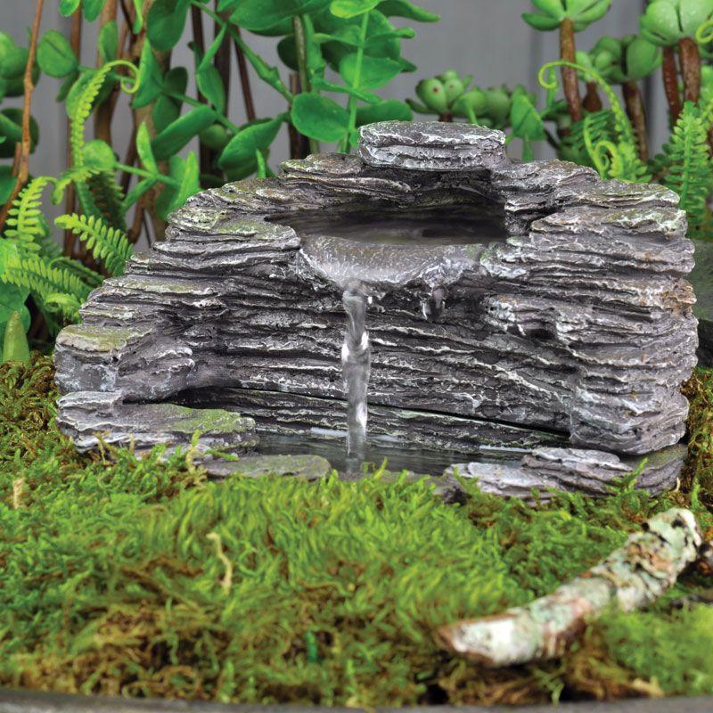 Shale Fountain My Fairy Gardens Miniature Garden Fiddlehead Fairy Garden Miniature Fairy Gardens