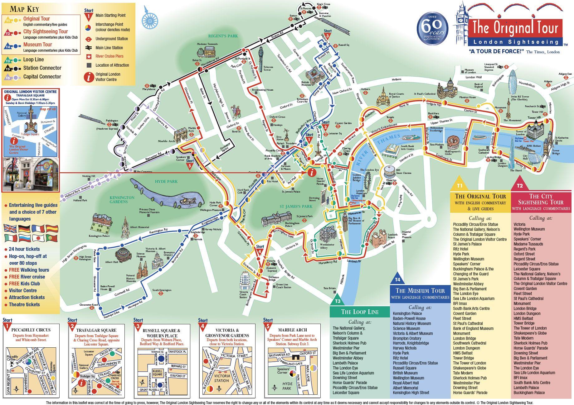 Visitar Londres En 5 Dias Mapa Mapa Turístico O Turista Viagens