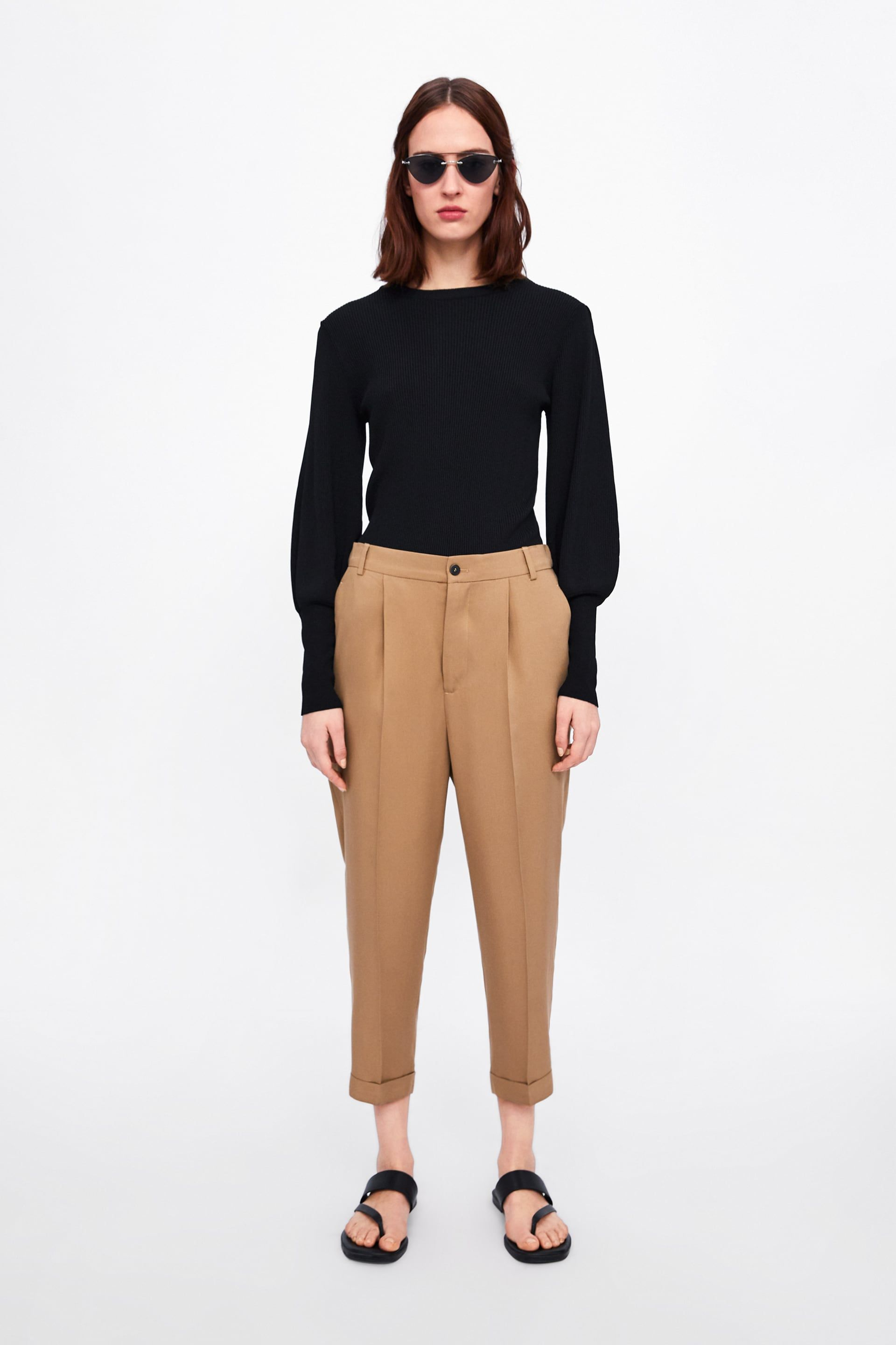 5e78b40078 PANTS WITH TURNED - UP HEM-View all-PANTS-WOMAN | ZARA United States ...