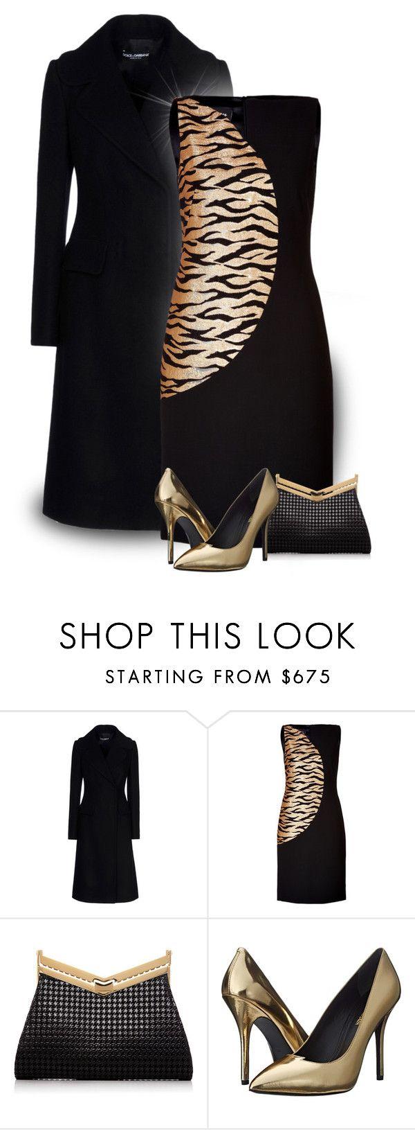 """Black & Gold"" by johannahoj ❤ liked on Polyvore featuring Dolce&Gabbana, Akris, J. Mendel and Pierre Balmain"
