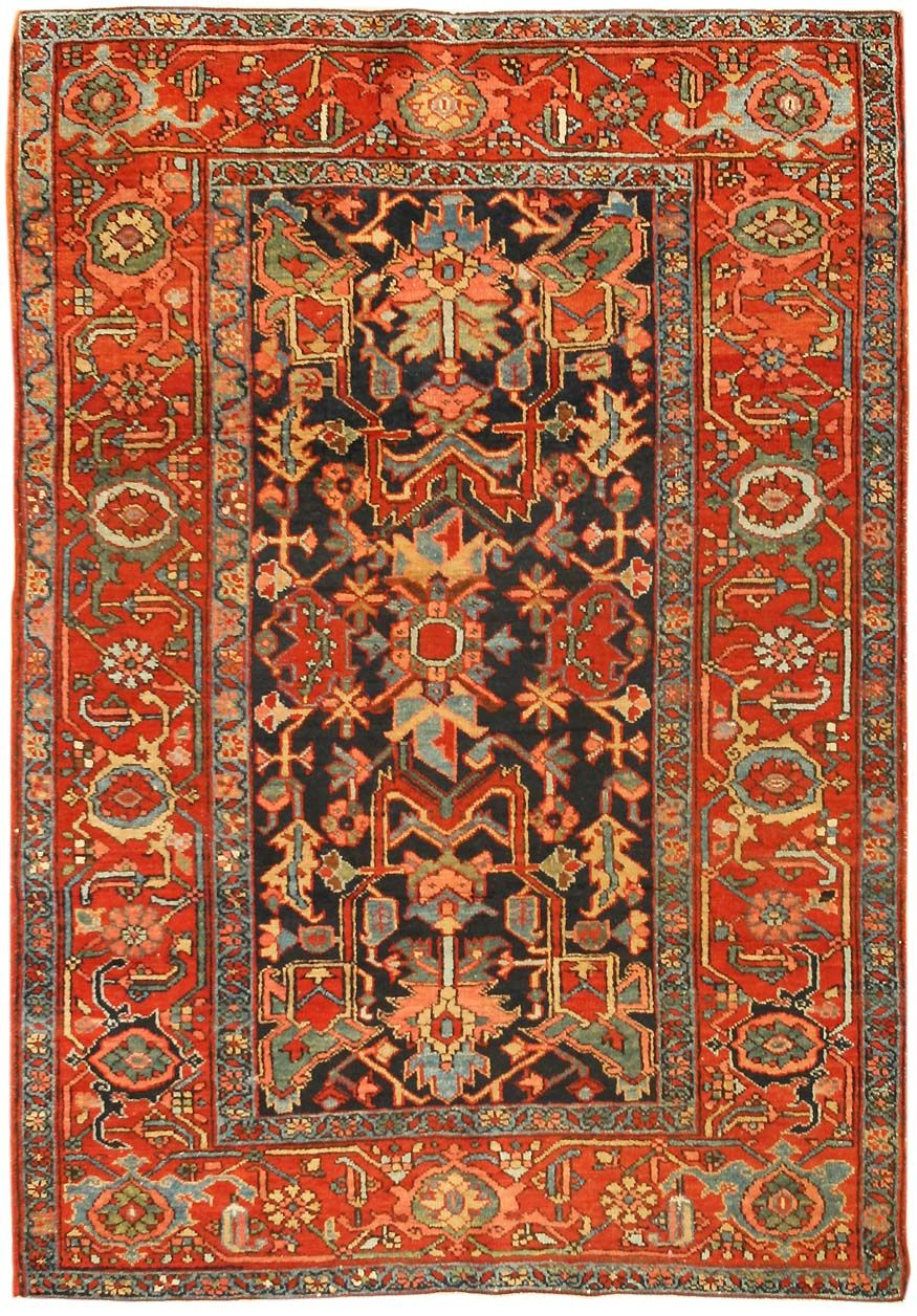 Heritz Motivi tappeto, Tappeti antichi, Tappeto persiano