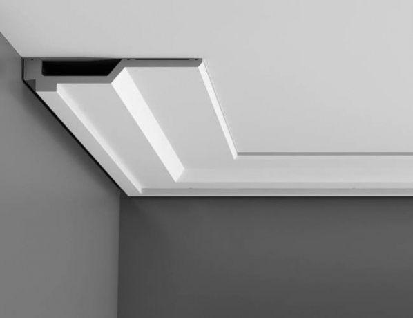 Bordeando el techo de poliuretano para enmarcar y la iluminaci n de techo trucos y til en - Cornisa para led ...