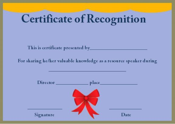 Certificate of recognition as resource speaker certificate of certificate of recognition as resource speaker yadclub Choice Image