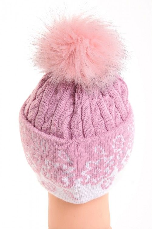 Шапка В0013 Цвет: розовый Цена: 375 руб.  http://optom24.ru/shapka-v0013/