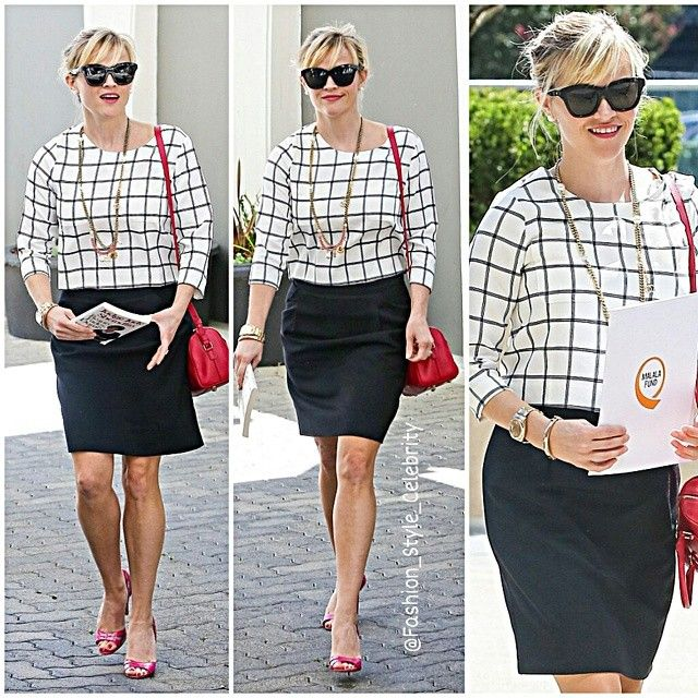 How to Chic: NEW CELEBRITY STYLE by fashion_style_celebrity - get this look with the CAbi bomber jacket & Pinterest pencil skirt.