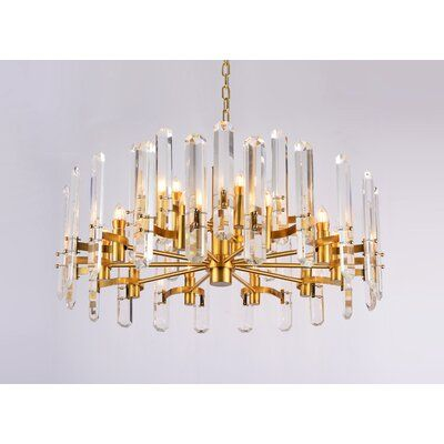 Everly Quinn Glantz 12 Light Candle Style Wagon Wheel Chandelier In 2021 Metal Chandelier Large Chandelier High Ceilings Crystal Chandelier
