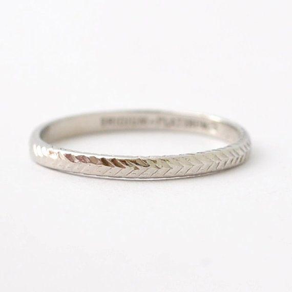 Platinum Art Deco Wedding Band Antique Wedding Rings