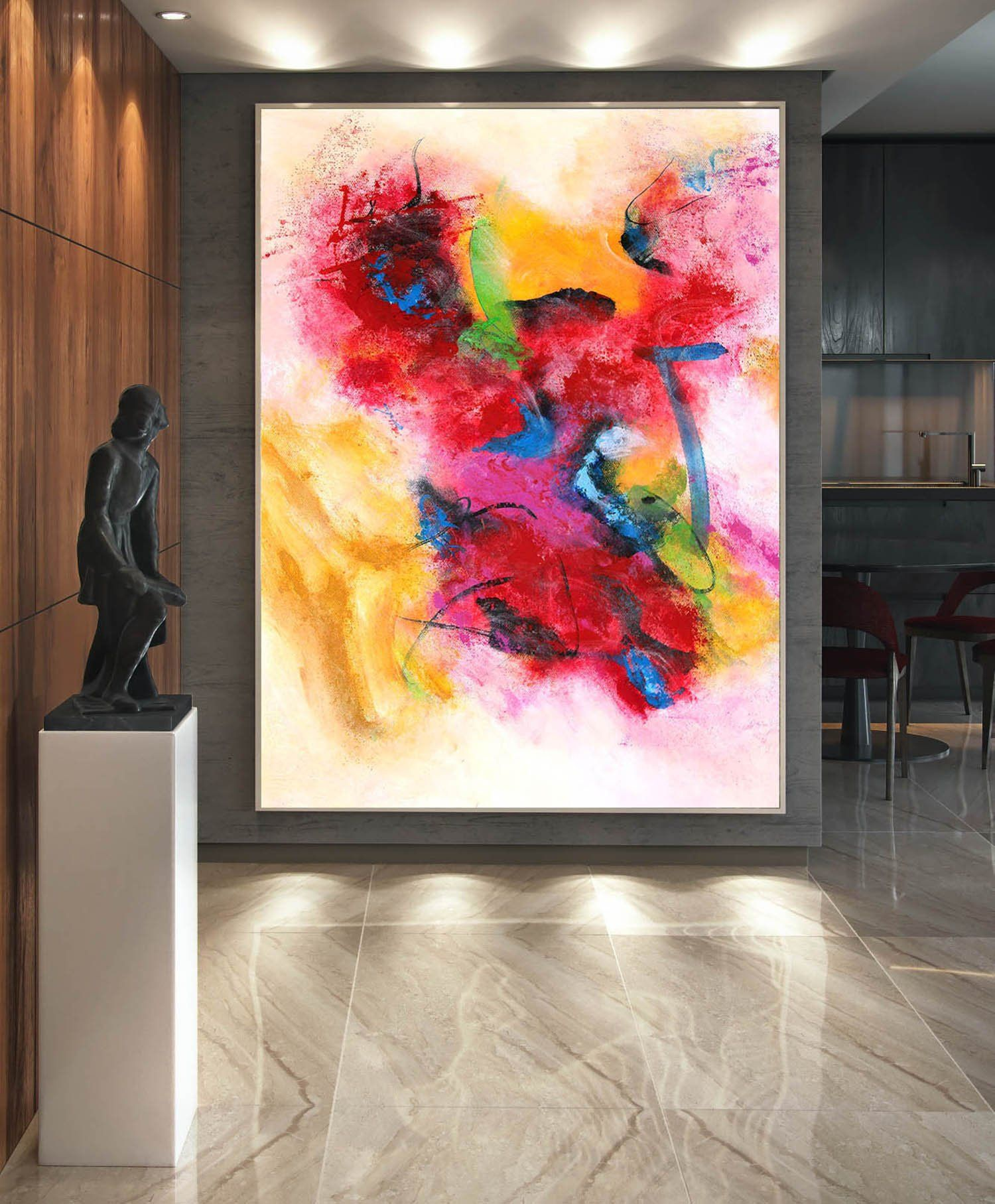 Extra Large Wall Art Abstract Painting On Canvas Etsy Extra