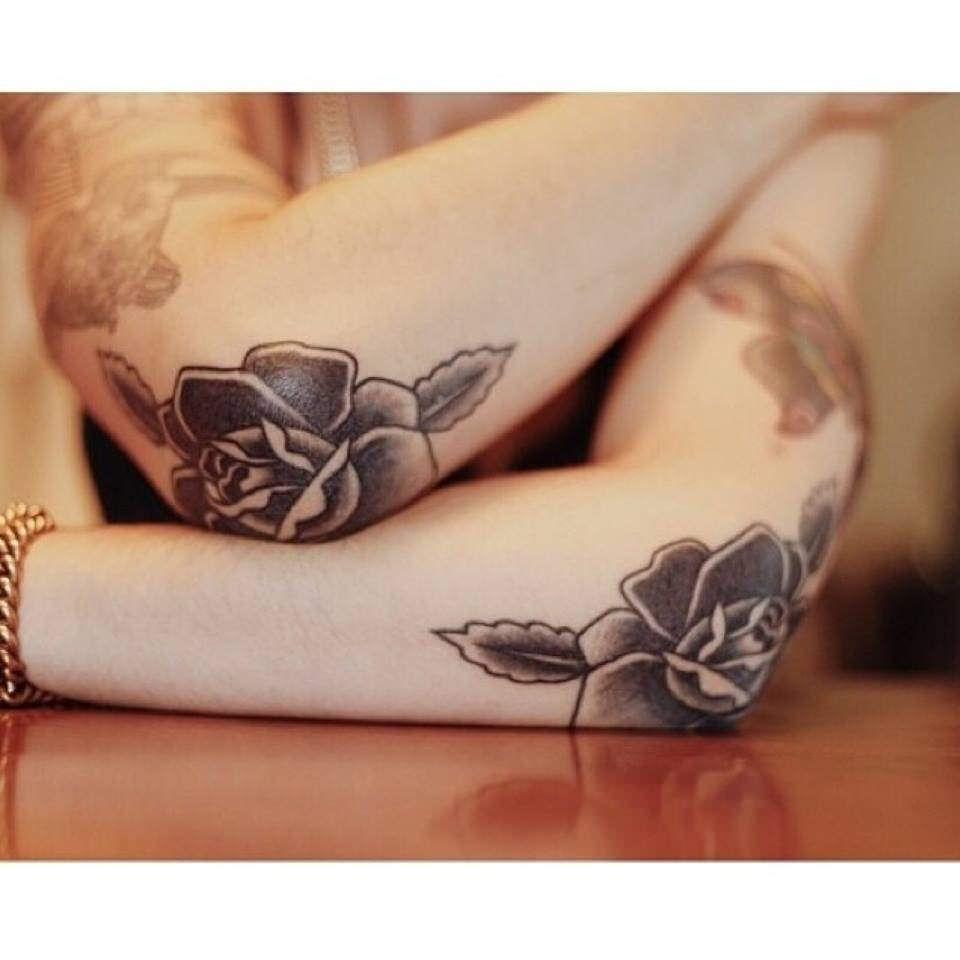 Realistic Tattoo   Elbow tattoos, Rose tattoos, Tattoo shop