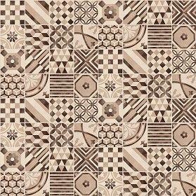 Textures Texture seamless | Patchwork tile texture seamless 16607 | Textures - ARCHITECTURE - TILES INTERIOR - Ornate tiles - Patchwork | Sketchuptexture