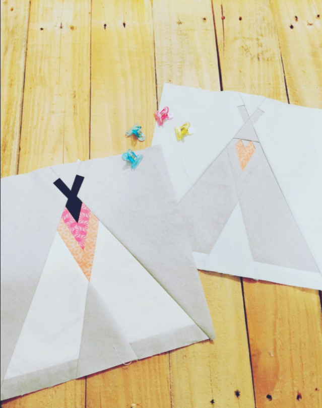 Free Quilt Pattern Two Teepee S Foundation Paper Pieced Pattern