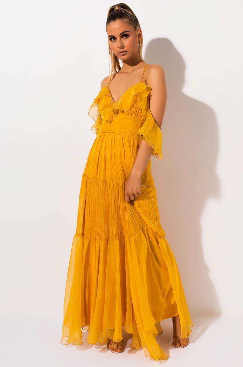 46+ Yellow maxi dress ideas