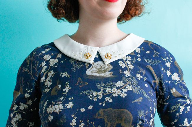 Pretty collar detail! Christmas party Francoise dress by Katie ...