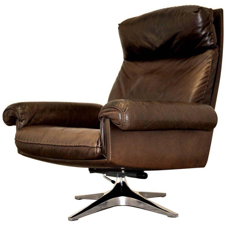 Vintage De Sede Ds 31 Leather Swivel Lounge Armchair Switzerland