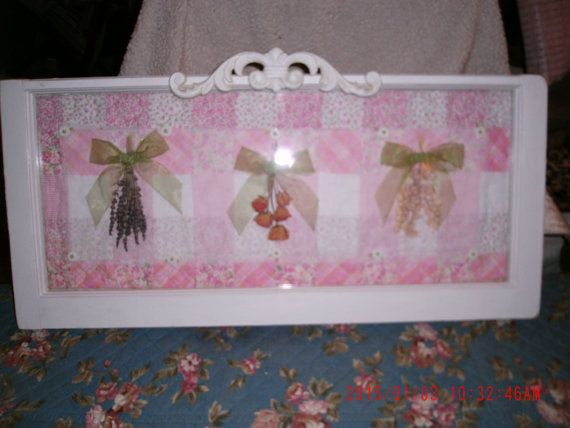 Sweet Vintage Wooden Framed Window Frame Pink with by thebedpost02