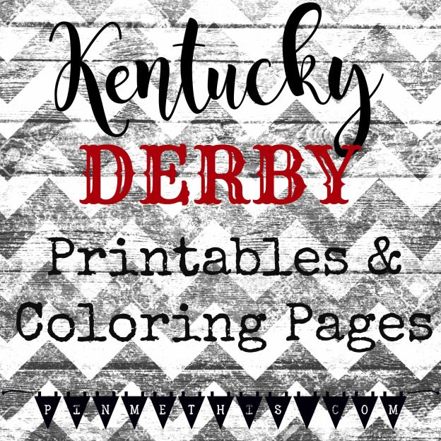 Kentucky Derby Printables And Coloring Pages For The Kids