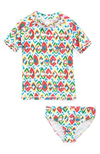 Tucker + Tate 'Montauk' Rashguard Shirt & Bottoms (Little Girls & Big Girls) available at #Nordstrom