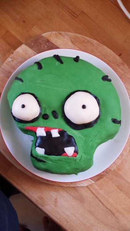 Plants vs Zombies Cake How To Baking Ideas Pinterest Plants