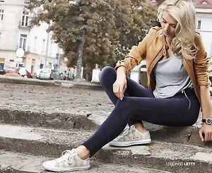 """CONTE Samt-Leggings shaping Effekt mit Tasche Reißverschlüß schwarz """"LETTY"""""""