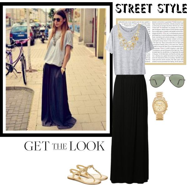 """""""Get The Look: Street Style, Maxi Skirt"""" by bjigg on Polyvore"""
