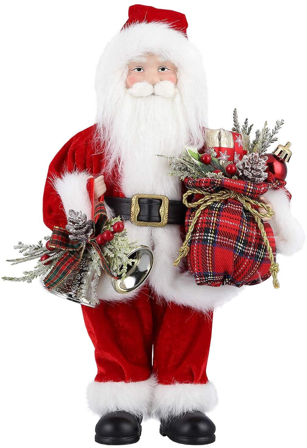 18cm hoch Weihnachtsmann Deko-Figur