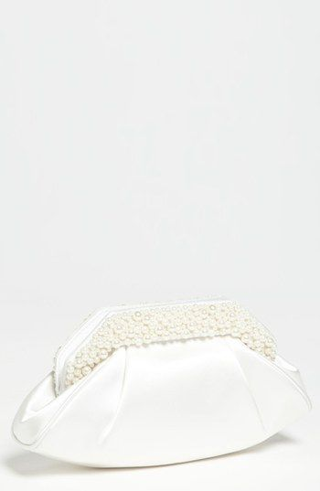 Sondra Roberts Satin Clutch with Pearl Beads available at #Nordstrom