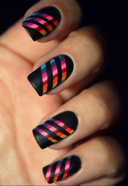 Paznokcie Czerwono Czarne Wzory Szukaj W Google Nails