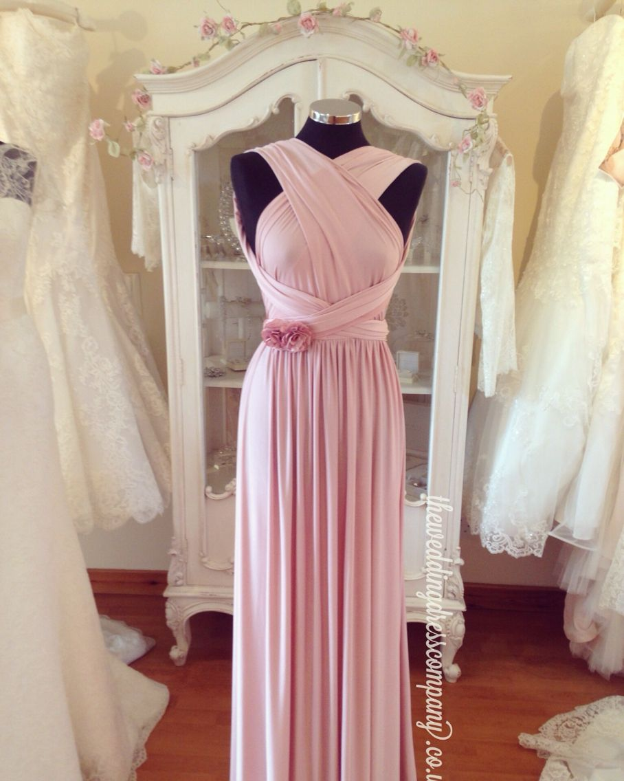 Eliza and Ethan multi way wrap bridesmaids evening dress in pastel ...