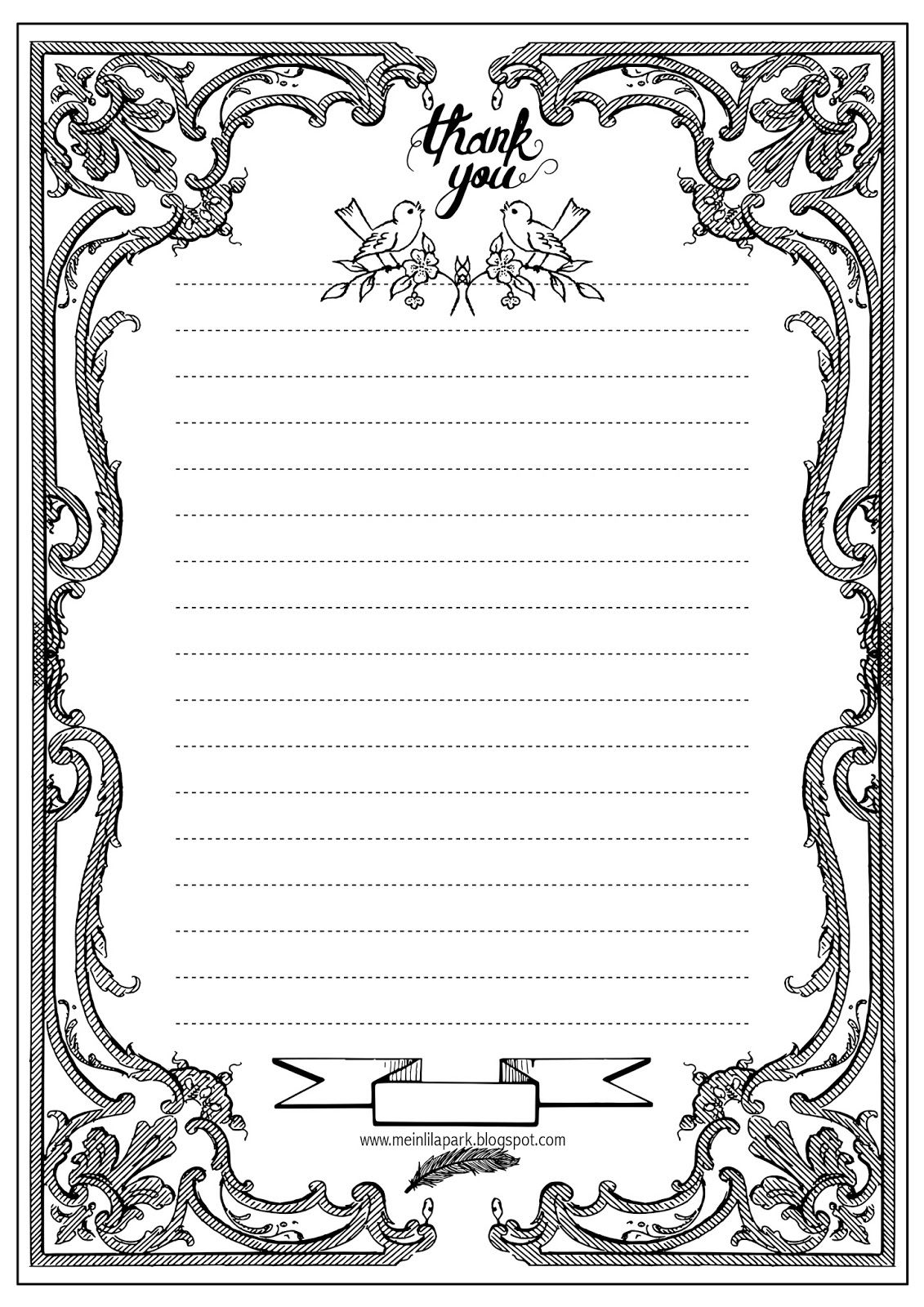 Free printable thank you writing