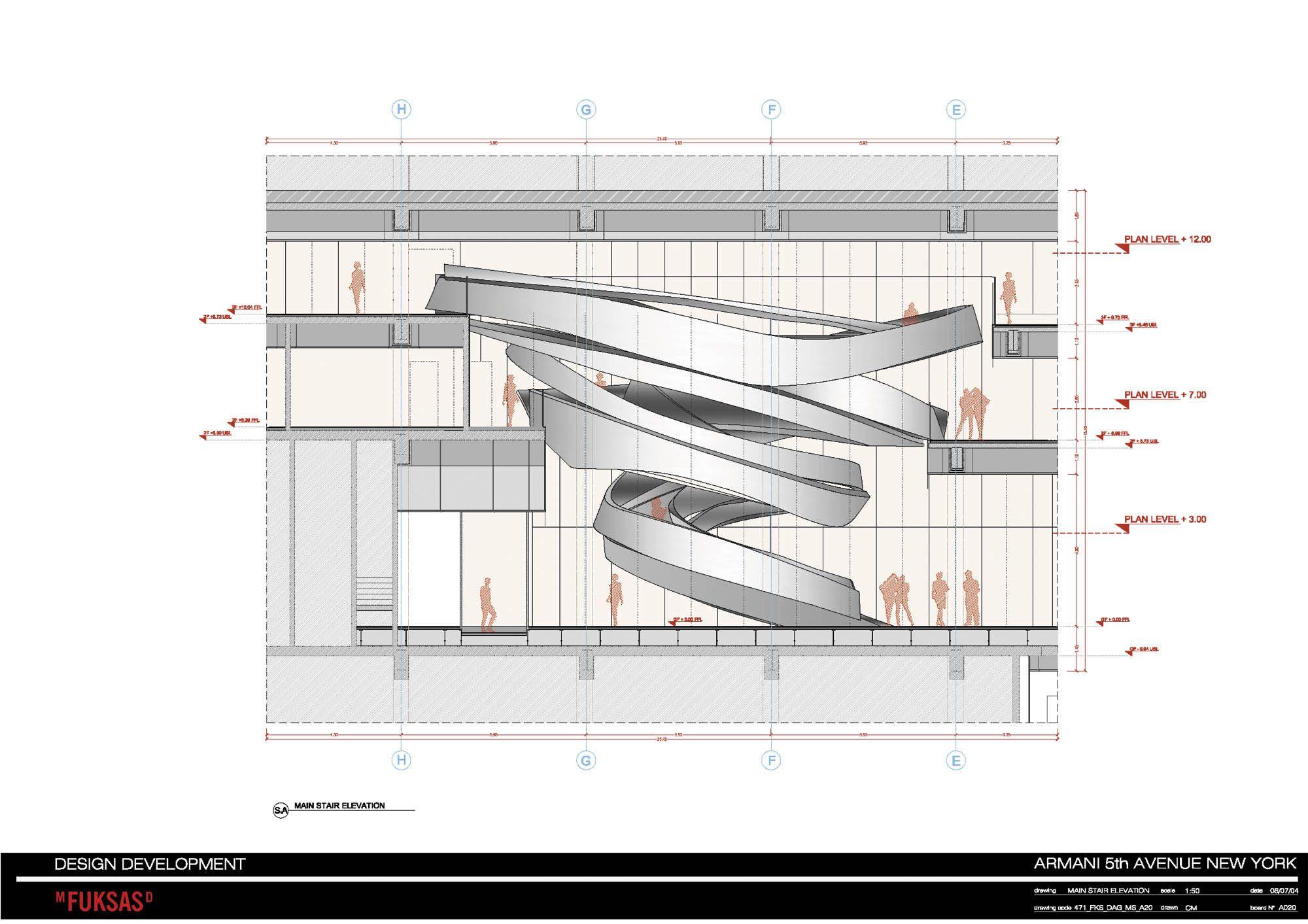 Architectural Drawing Sizes armani fifth ave. / massimiliano & doriana fuksas | architecture