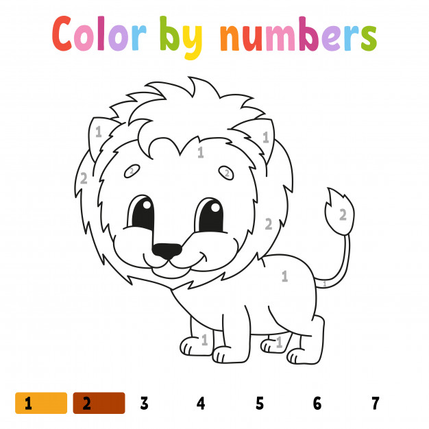 Color By Numbers Color By Numbers Zebra Coloring Pages Abc Games For Kids