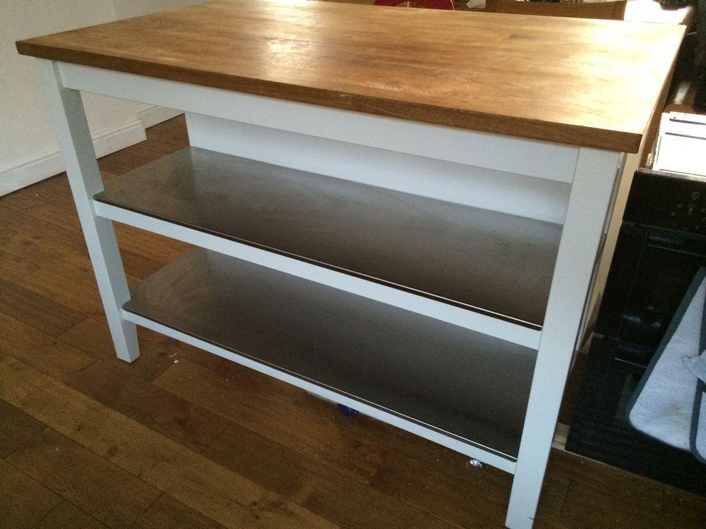 IKEA Stenstorp Breakfast Bar - 9 Months Old (White  Birch