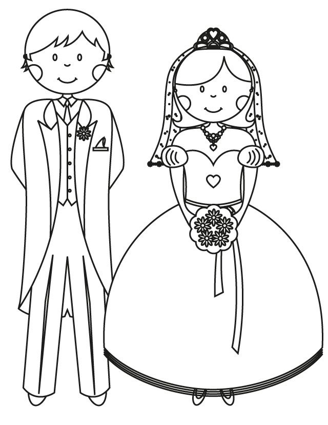 17 Wedding Coloring Pages for Kids Who Love to Dream About ...