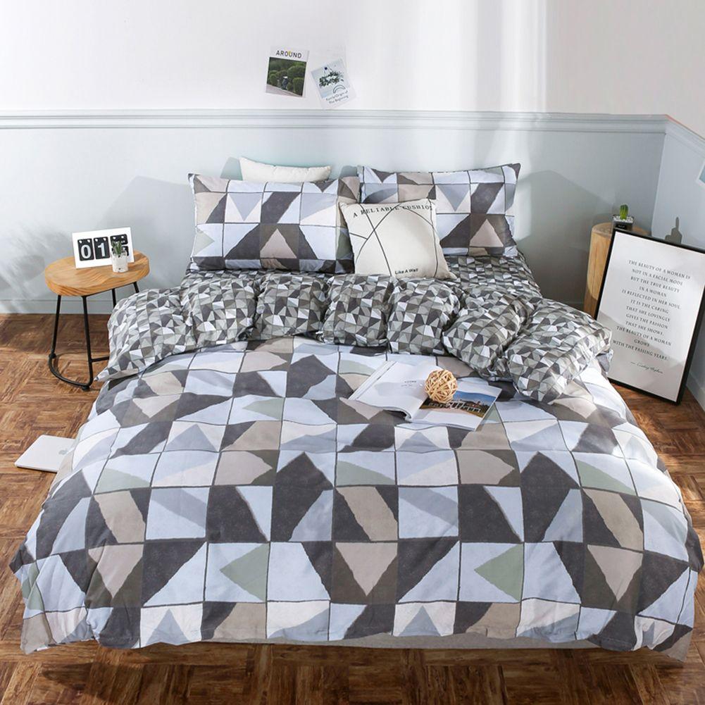 Teen Boys Blue/Plaid Twin XLFull/Queen Comforter Set Dorm