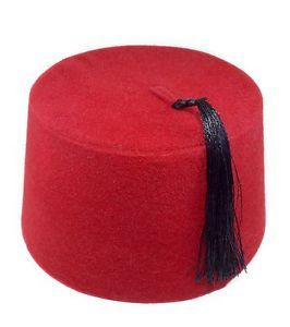 e15bcaa21 Turkish Ottoman FEZ FES Tarbush Hat Burgundy Red Black or with Gold ...