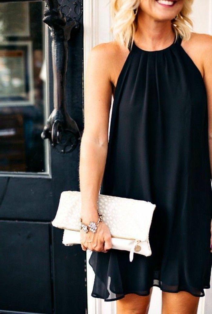 Vestido negro para la playa