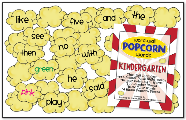 My popcorn word-wall is definitely the cutest addition to my circus ...